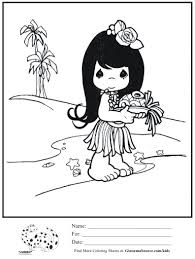 kids coloring page hawaiian precious moments coloring sheet