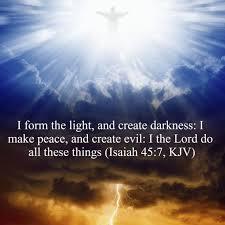 what day did god create light did god create satan demons laura j davis