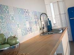 Light Blue Kitchen Tiles by Bologna Blue Pattern Mosaic Tiles Used As A Splashback Tile In