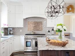 White With Brown Glaze Kitchen by Gray Glazed Kitchen Tiles With Gold Accent Tiles Transitional