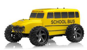 monster jam radio control trucks iron track electric yellow bus 1 18 4wd truck ready to run rc