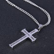 philippians 4 13 cross necklace herzoge