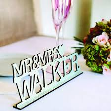 mr mrs wedding table decorations personalised vintage mr and mrs wedding sign by artcuts