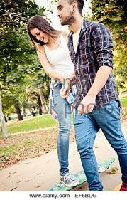 attitude couple wallpaper hd couple skateboarding stock photo royalty free image 146958541 alamy