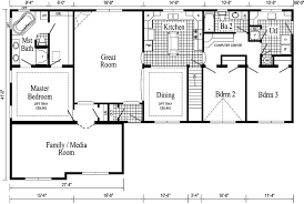 Modern House Blueprints Interesting Floor Plans For A Ranch House 14 With Additional Open