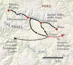 Machu Picchu Map Peru Private Journey Itinerary U0026 Map Wilderness Travel