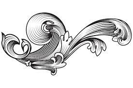 ornamental flourish objects creative market