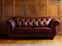 canapé chesterfield occasion canapé chesterfield en cuir 3 places avec dossier haut