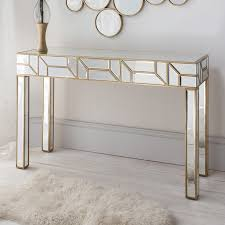 rose gold console table gold mirrored console table home design ideas