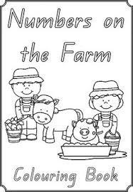 numbers farm colouring pages 1 10 numbers farming