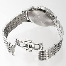 armani men bracelet images Emporio armani chronograph silver bracelet black face men 39 s watch jpg