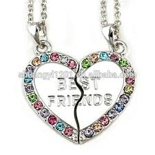 heart necklace wholesale images Fashion friendship jewelry necklace wholesale best friends forever jpg