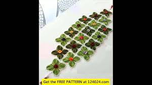 halloween table runner pattern free crochet table runner patterns youtube
