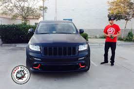 jeeps matte black jeep srt8 wrapped in 3m deep matte black vehicle wrap wrap bullys