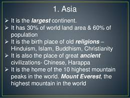 interesting facts about continents in the world
