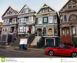 Victorian Houses by Colorful Victorian Houses In San Francisco Stock Photo Image