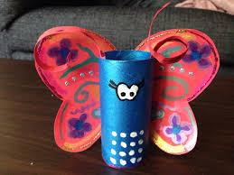 butterfly for kids crafts toilet paper roll fjäril gjord av en
