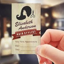 Business Cards Hair Stylist Retro Beauty Hair Salon Stylist Appointment Business Card