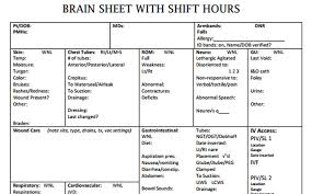Shift Report Sheet Template Brain Sheets Shift Hours Scrubs The Leading Lifestyle