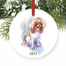cavalier king charles spaniel ornament 2017 porcelain