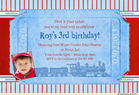 train ticket birthday party invitation express delivery