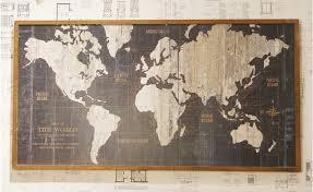 Map Vintage World Map Map Decor