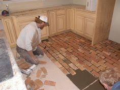 Brick Floor Kitchen by Old Chicago Brick Floor Tile This Stunning Brick Veneer Started