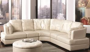Curved Sectional Sofa Leather Chairs Contemporary Couches For Living Room And Sofas Sale White