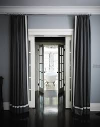 Steel Grey Curtains Grosgrain Curtains Transitional Bedroom House And Home