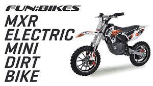 battery powered motocross bike funbikes mxr 61cm orange electric mini dirt bike on vimeo