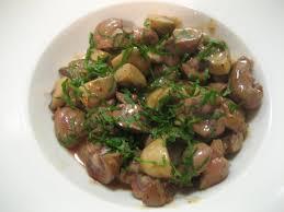 cuisiner des rognons rognons de veau et chignons crémés la cuisine chez nous