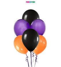 black balloons balloon spray orange purple and black balloons