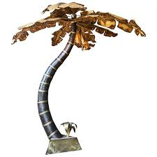 Floor Lamp Tree Branches Superb Giant Brutalist 1970s Hollywood Regency Palm Tree Floor