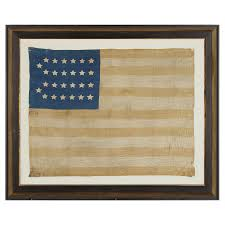 American Flag 1845 Jeff Bridgman Antique Flags And Painted Furniture Extremely Rare