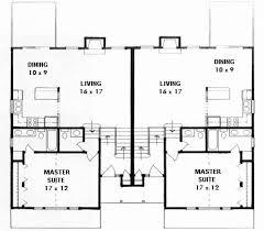 plan 1854 bi level duplex plan narrow lot