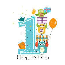 boy birthday happy birthday with owls and gift box baby boy birthday