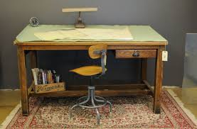 vintage wood drafting table i m not sure what i like most the rustic desk and i d fix that