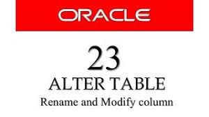 Alter Table Modify Column Oracle Oracle Tutorial Oracle Sql Tutorial Free Oracle Database