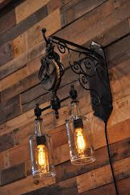 double whiskey bottles pulley pendant light id lights