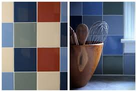 painted tiles for kitchen backsplash painted tile kitchen backsplash decor hacks