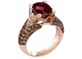 levian wedding rings le vian r 14kt strawberry gold garnet chocolate white