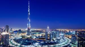 united arab emirates dubai night city scenery bustling