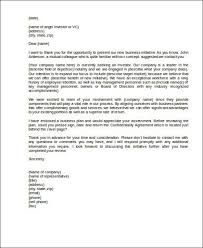 cover letter for a business plan