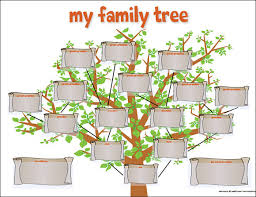 family tree template for kids family tree templates pinterest