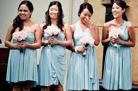 robin egg blue bridesmaid dresses bridesmaids wearing henkaa s convertible dresses in robin s