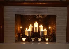 decorating fireplace mantels with candles slowlie and candles in