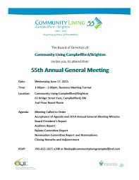 Annual Meeting Agenda Template by General Meeting Invitation Cogimbo Us