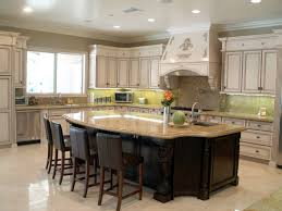 glass countertops large kitchen island with seating and storage