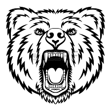 standing and growling bear clipart china cps