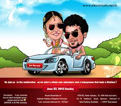 creative indian wedding invitations www elocaricatures in contact for caricature wedding